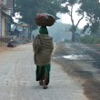 Stock Photo: Street life in indiin morning