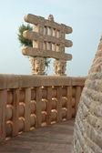 Inside Great Stupa at Sanchi — Stock Photo