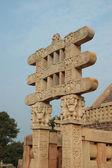 Gates of Great Stupa at Sanchi — Stock Photo