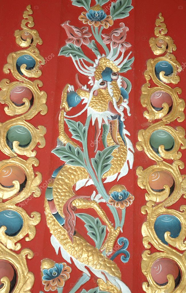 Eastern Ornament - dragon — Stock Photo #1168221