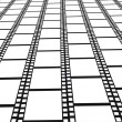 Royalty-Free Stock Obraz wektorowy: Perspective of filmstrips -  background