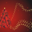 Vecteur: Red christmas greeting card