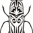 Royalty-Free Stock Vector Image: Stag beetle tribal tattoo