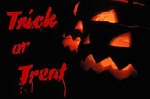 Trick or treat halloween background — Stock Photo