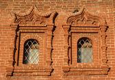 Two windows on brickwall — Stock Photo