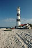 Old lighthouse on Tendra island,Ukraine — Stock Photo