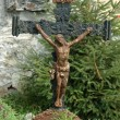 Stock Photo: Old catholic cross on churchyard