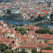 View of Prague from the Petrzhin hill — Stock Photo