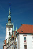 Town Hall on the main square of Olomouc — Stock Photo