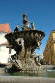 Old fountain in Olomouc — Stock Photo