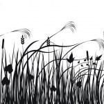 Grass vector silhouette — Stock Vector #1253506