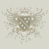 Coat of arms with fleur-de-lis — Stock Vector