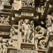 Detail of hindu temple in Khajuraho — Stock Photo