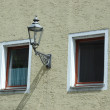 Two windows with street lamp — Stock Photo