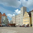 Stock Photo: Haidplatz, town square in Regensburg
