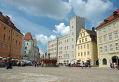 Haidplatz, town square in Regensburg — Stock Photo