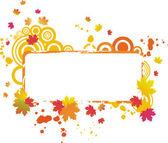Grunge autumnal vector frame — Stock Vector