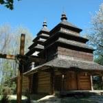 Old wooden church ,Ukraine — Stock Photo