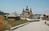 Ukrainian cossack village — Stock Photo