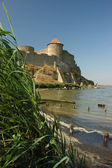 Old fortress on the river bank,Ukraine — Stock Photo