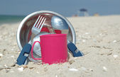 Camping kitchenware — Stock Photo