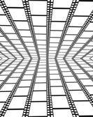Perspective of empty filmstrips — Stock Vector