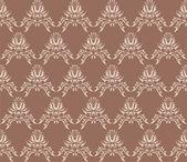 Damask (Victorian) seamless texture — Stock Vector