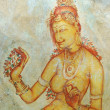 Wall painting in Sigiriya rock monastery — Stock Photo #1583019