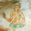 Stock Photo: Wall painting in Sigiriya rock monastery