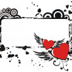 Grunge valentine frame — Stock Vector