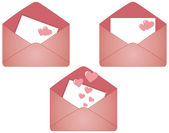 Envelope for Valentine's day — Stock Photo