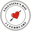 Valentine&#039;s day post stamp - Foto Stock