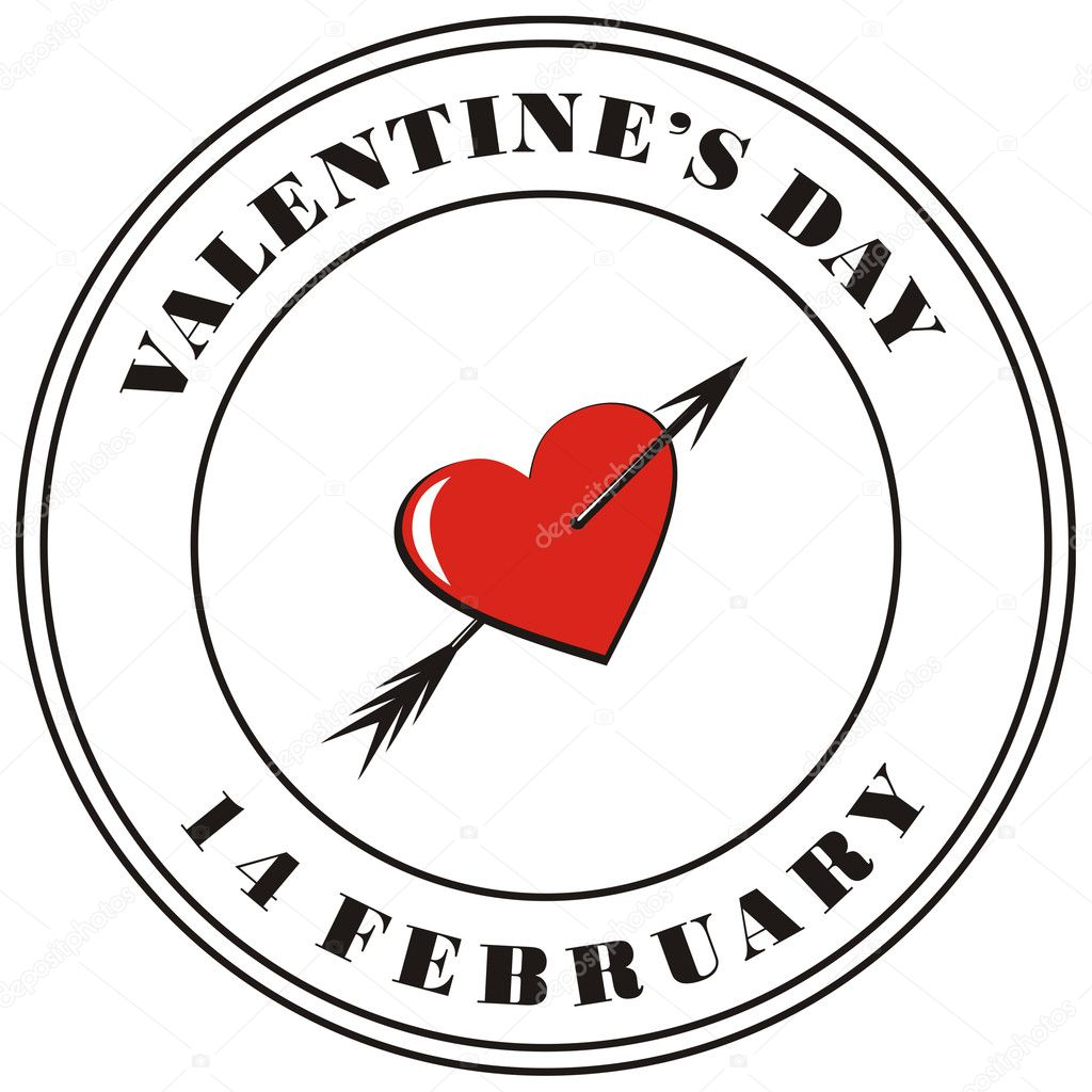Valentine's day post stamp — Stock Photo #2078696