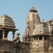 Stock Photo: Hindu temples at Khajuraho,India