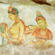 Wall painting in Sigiriya ,Ceylon — Stock Photo