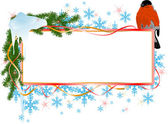 Christmas banner with bird — Stock Vector