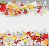Floral autumn background with leaves — Vecteur