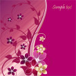 Royalty-Free Stock Imagen vectorial: Greeting card violet color