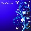 Winter floral background with flower - Stock Vector