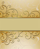 Ornate floral frame — Stockvector