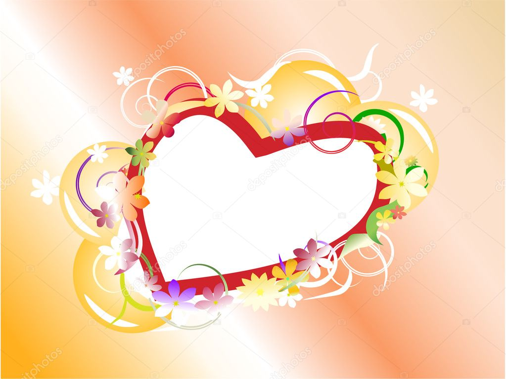 Love background with heart — Stock Vector #1165256
