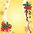 Christmas banner with berry — Stock Vector
