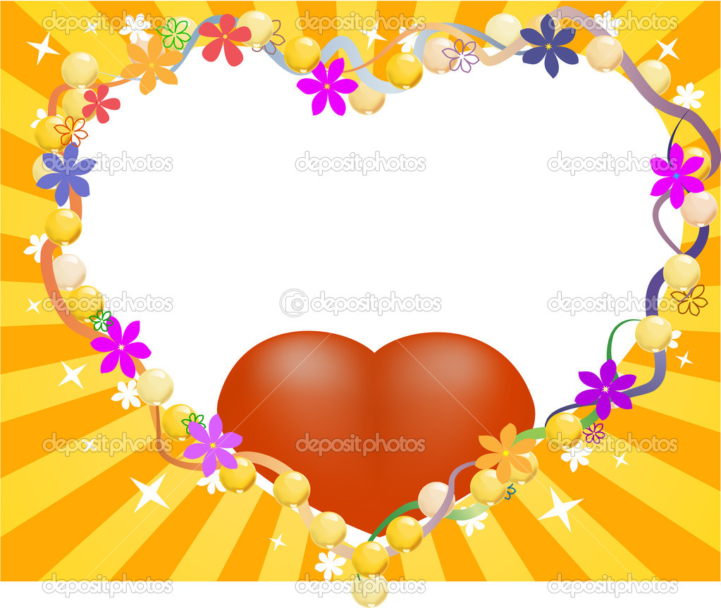 Love background with heart  Stock Vector #1225503