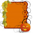 Halloween banner - Stok Vektr