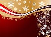 Winter holiday greeting card — Stock Vector