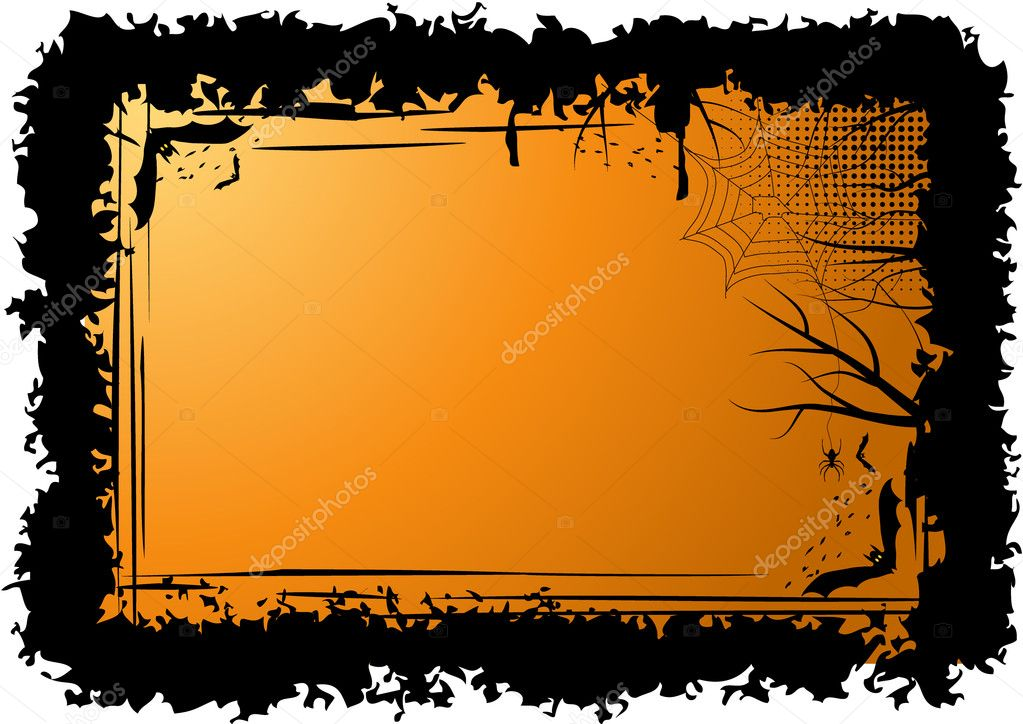 Halloween frame with bats — Stock Vector #1300899