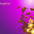 Violet floral background — Stock Vector #1342940