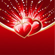 Vecteur: Abstract hearts burst background
