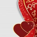 Валентина поздравительных открыток — Cтоковый вектор