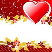 Valentine's floral banner — Stock Vector